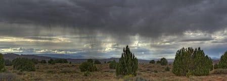 Tempesta della pioggia sopra il paesaggio dell'Utah Fotografia Stock