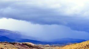 Tempesta della pioggia su grande Mesa Colorado Fotografie Stock