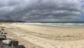 Tempesta della spiaggia Fotografia Stock