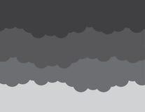 Tempesta di buio delle nuvole illustrazione di stock