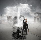 Tempesta di crisi di affari Immagini Stock Libere da Diritti