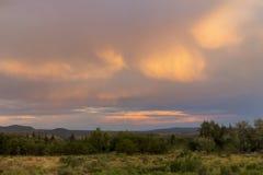 Tempesta di estate nell'Utah Fotografie Stock