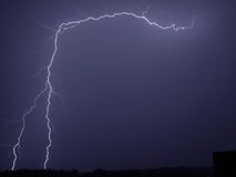 Tempesta di illuminazione Fotografie Stock