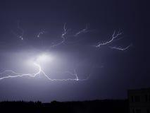 Tempesta di illuminazione Immagini Stock Libere da Diritti