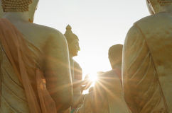 Tempesta di illuminazione di Buddha fotografia stock libera da diritti
