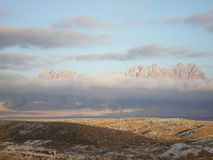 Tempesta di inverno del deserto Immagine Stock Libera da Diritti