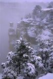Tempesta di inverno in grande canyon Fotografie Stock