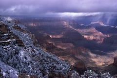 Tempesta di inverno sull'orlo ad ovest di grande canyon Immagini Stock Libere da Diritti