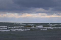 Tempesta di lago Michigan Fotografie Stock Libere da Diritti