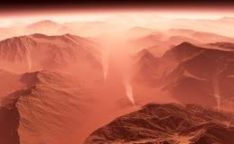 Tempesta di sabbia su Marte Fotografia Stock
