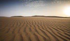 Tempesta di sabbia in un deserto immagini stock libere da diritti