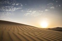 Tempesta di sabbia in un deserto fotografia stock
