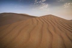 Tempesta di sabbia in un deserto immagine stock libera da diritti