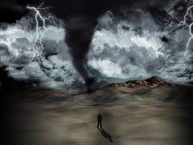 Tempesta di tornado Fotografie Stock Libere da Diritti