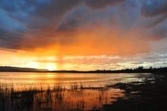 Tempesta di tramonto Immagine Stock Libera da Diritti