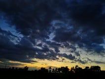Tempesta di tramonto Immagini Stock