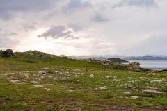 Tempesta di vento sopra il lago Baikal Fotografia Stock