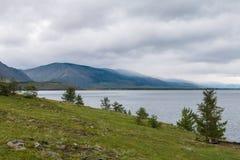 Tempesta di vento sopra il lago Baikal Fotografie Stock Libere da Diritti