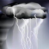 Tempesta e pioggia, tempo Immagine Stock