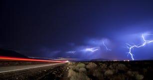 Tempesta elettrica di viaggio fotografia stock