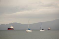 Tempesta inglese della baia, Vancouver orizzontale Immagini Stock