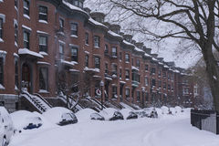 Tempesta Juno di inverno: South End Immagine Stock