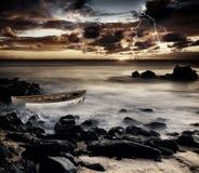 Tempesta litoranea Fotografia Stock Libera da Diritti