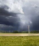 Tempesta nei campi Fotografie Stock Libere da Diritti