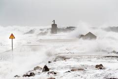Tempesta nel mare Immagine Stock