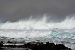 Tempesta nell'Oceano Atlantico Fotografia Stock