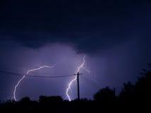 Tempesta nella città Fotografia Stock