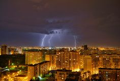 Tempesta nella città krasnodar Fotografia Stock