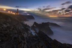 Tempesta nella costa Fotografia Stock