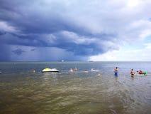 tempesta Sguardo artistico nei colori vivi Immagini Stock