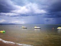 tempesta Sguardo artistico nei colori vivi Fotografia Stock