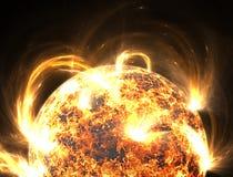 Tempesta solare estrema, chiarori solari illustrazione vettoriale