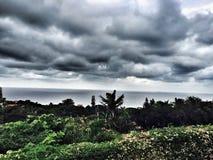 Tempesta sopra il mare Immagini Stock Libere da Diritti