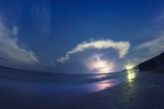Tempesta sopra il mare Fotografie Stock Libere da Diritti