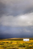 Tempesta sopra l'azienda agricola Fotografie Stock