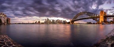 Tempesta sopra la città Fotografie Stock Libere da Diritti