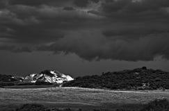 Tempesta sopra le dune di sabbia Immagini Stock Libere da Diritti