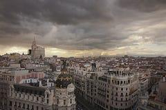 Tempesta sopra Madrid Immagine Stock