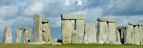 Tempesta sopra Stonehenge immagini stock