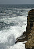Tempesta sopra Yesnaby; Orkney Fotografie Stock Libere da Diritti