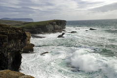 Tempesta sopra Yesnaby; Orkney Fotografia Stock Libera da Diritti