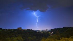Tempesta su Ginevra Fotografia Stock