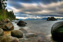 Tempesta sul lago Tahoe fotografia stock libera da diritti