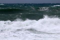 Tempesta sul Mar Mediterraneo Immagini Stock
