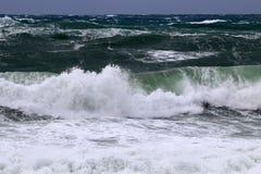 Tempesta sul Mar Mediterraneo Fotografia Stock