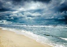Tempesta sul mare Immagine Stock